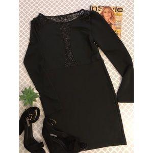 FOREVER 21  Short Black Long Sleeves Dress.